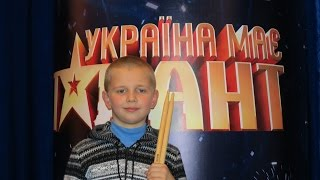 """Ukraine Got Talent - 5"" - Drummer Daniel Varfolomeyev 9 years - 30.03.2013 - Drum Solo"