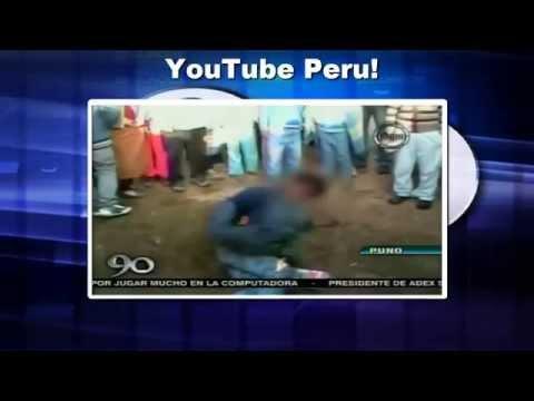Increible  Sicario es linchado y quemado vivo por Asesinato en Puno   Perú