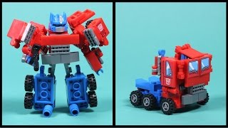 Kre-o Transformers Optimus Prime - Kreon Battle Changer Building Toy - Unboxing, Speed Build & Play