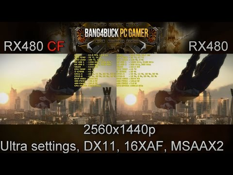 AMD RX 480 CrossFire Scaling Performance | i7 6700K 4.5GHz