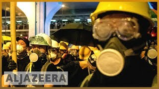 Hong Kong protesters come under attack at metro railway station