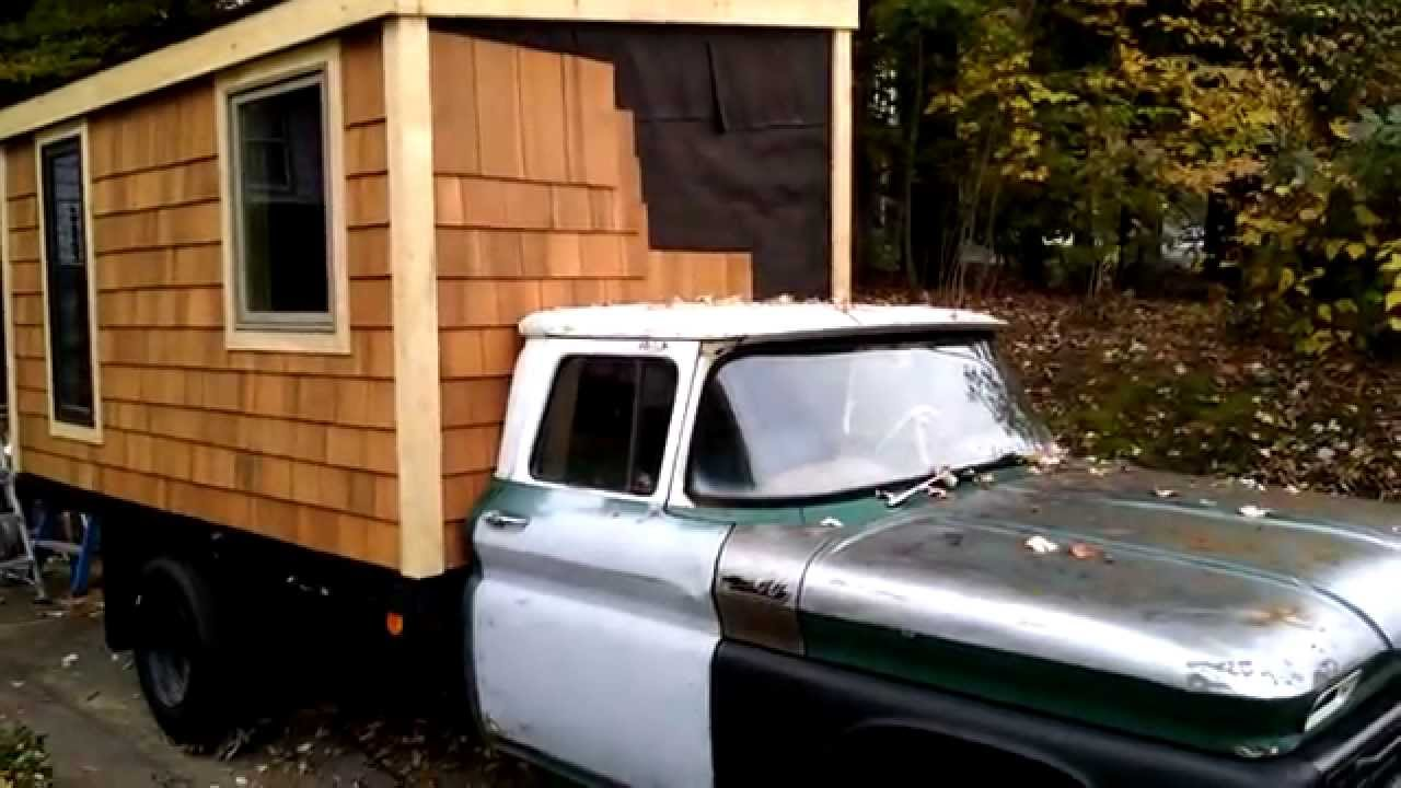 Tiny House Cabin on wheels part 9 YouTube