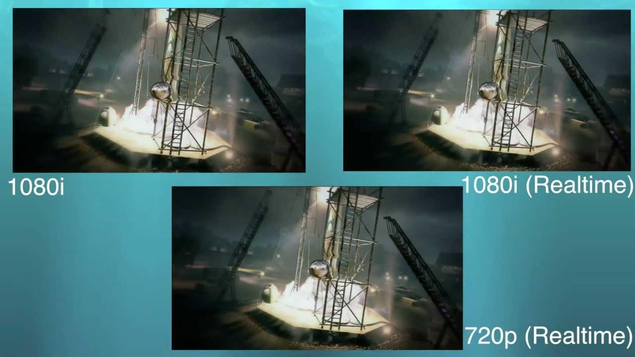 Avermedia HD Game Capture Quality Test - 1080i vs 720p