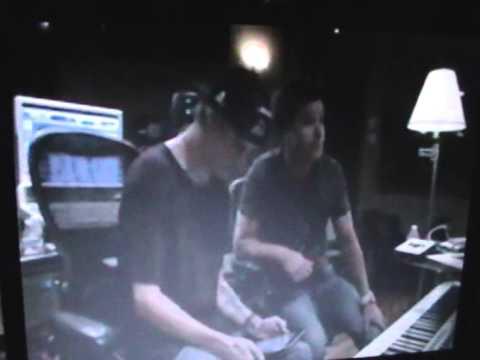 Aaron Carter in studio 7-31-14