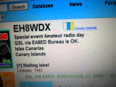 EH8WDX-Special event Amateur radio day-CANARY islands-16:55 utc-17-Apr-2013 - 20 meters band
