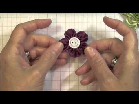 Handmade Flower Embellishement Using Ribbon and Contest Winner!