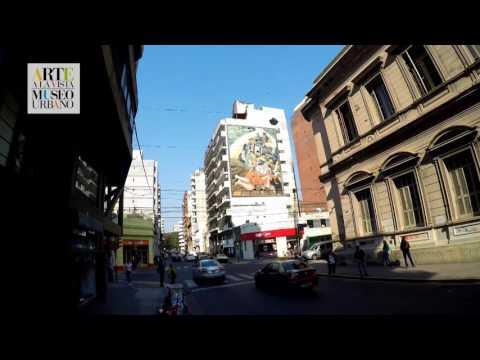 Recorré desde el aire el museo urbano Arte a la Vista,compuesto por obras de artistas rosarinos