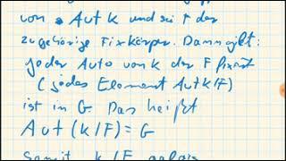 Galoistheorie: Endliche Untergruppen von Aut(K/F)