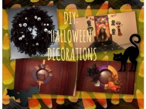DIY Halloween decorations ( halloween wreaths ...