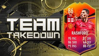 FIFA 19 TEAM TAKEDOWN!!! NEW SQUAD BUILDER SERIES ON HEADLINER MARCUS RASHFORD!!!