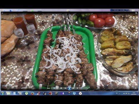 Шашлык из мяса птицы по Кавказски.