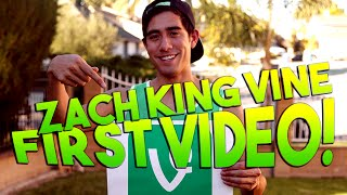 ZachKingVine First Video EVER! | Youtubers First Videos Ever | Youtubers First Time
