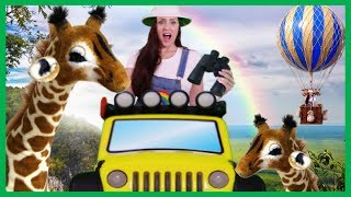 Wild Animals with Mrs Rainbow   Learn Animals & Numbers for Children