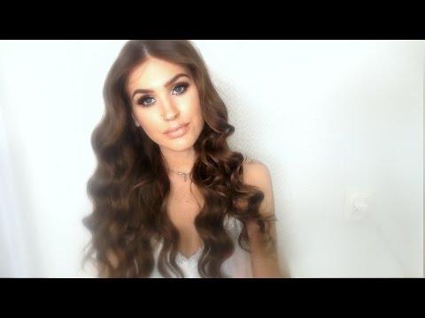 heatless hollywood inspired curls waves no heat hair tutorial youtube