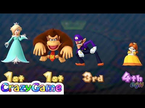 Mario Party 10 Coin Challenge - Daisy vs Rosalina vs Waluigi vs Donkey Kong Gameplay |CRAZYGAMINGHUB