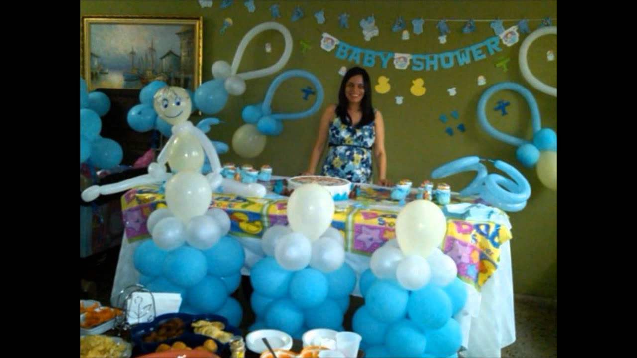 decoracion baby shower baby shower balloon decoration youtube