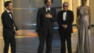 The Coen Brothers winning an Oscar® for Directing