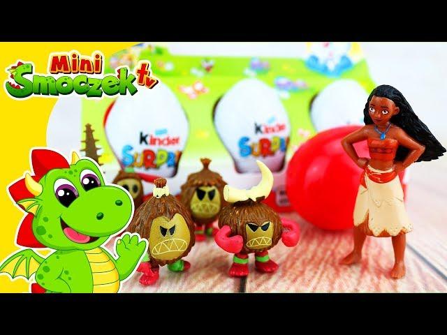 Księżniczki Disneya • Vaiana i Kinder Jajka Niespodzianki • Zabawki Bajki Dla Dzieci Po Polsku