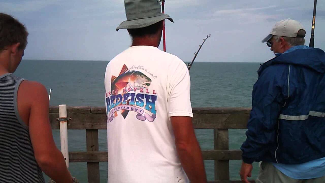 7 28 13 tim chavez catching a 23 5 pound king mackerel off for Seaview fishing pier