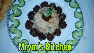 Beaf Moti Fried Rice   Egg fried Chinese Rice with Meat Balls   Kofta Rice With new style mrym's kit
