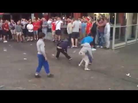 British fans were harassing kids в Lille