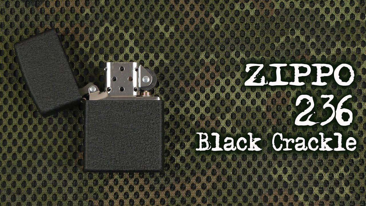 Zippo 236 Black Crackle.