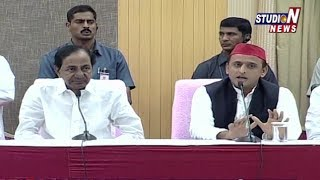 UP Ex CM Akhilesh Yadav Supports CM KCR's Federal Front