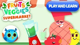 Shopping Game For Kids - Play & Learn With Paolo | Supermarket Fruits Vs Veggies | Kinsane Games