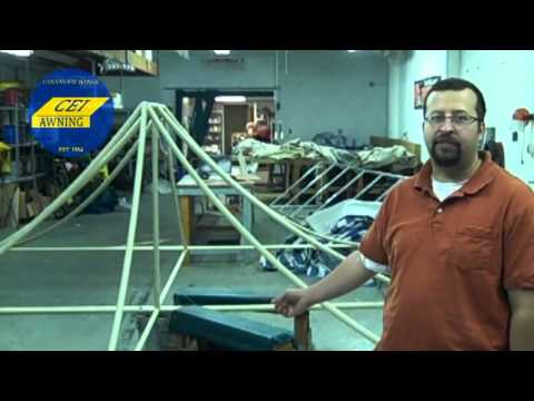 Canvas Awnings Cleveland Ohio: Cleveland Awing Company Gives Tour