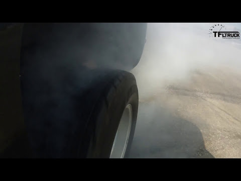 2015 Chevy Silverado 3500 Heavy Duty tire-shredding Dually Donut