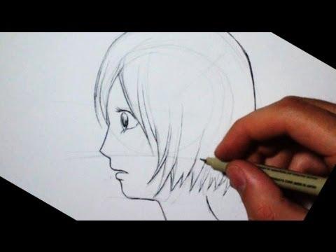 Drawing time lapse dessiner un visage manga de profil extrait youtube - Site dessin manga ...