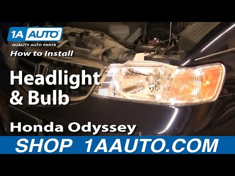How To Install Replace Headlight and Bulb Honda Odyssey 99-03 1AAuto.com