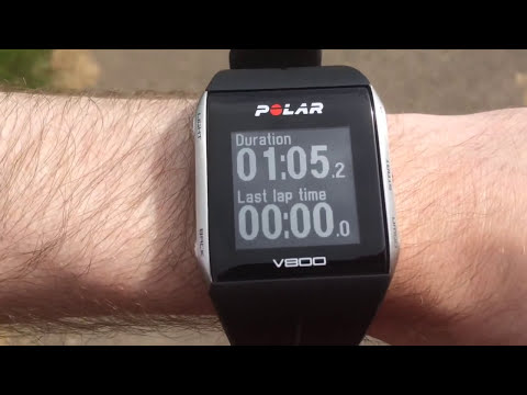 Polar V800 GPS Watch First Run