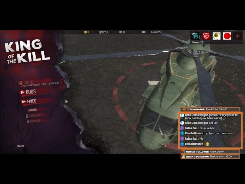 H1Z1 KOTK Playing !fives with viewers !fives !commands #RefreshStream4MoreViewsHiHi