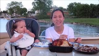 Vlog 645 ll Vắng Người Tình Trăm Năm, 2 Mẹ Con Làm Nhẹ Con Gà Nướng