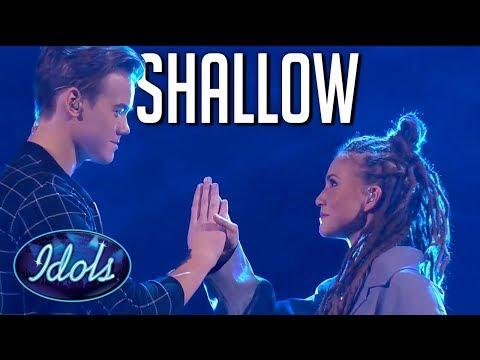 "Download Lagu  Emotional cover of ""Shallow"" on Swedish Idol | Idols Global Mp3 Free"