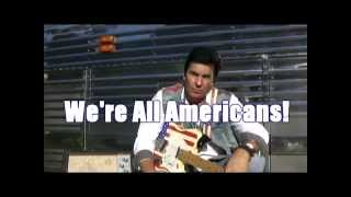 We're All Americans- Todd Allen Herendeen with Garth's Tour bus