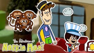 The Adventures of Napkin Man | TRAIN TROUBLES | Episode | Cartoons for Kids