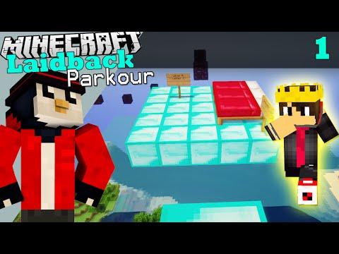 Minecraft Laidback Parkour | PARKOUR pe Diamond Blocks?! #1 w/ Andy