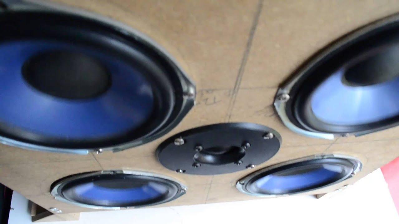 Homemade Speaker System - Dubstep Bass Test - YouTube