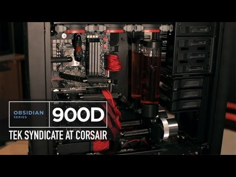 Corsair Obsidian Series 900D - Loaded with 4 Radiators, 3 GTX 670's, 23 Fans