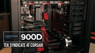 Corsair Obsidian Series 900D - Loaded with 4 Radiators, 3 GTX 670