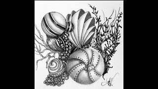 Weekly Zentangle® Tangle Video-JETTIES-August 3-9, 2015