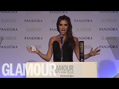 Victoria Beckham accepts the Woman Of The Decade 2013 GLAMOUR Award