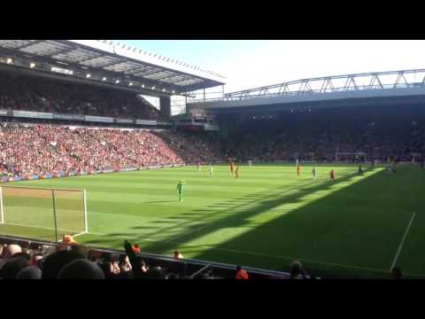 You never walk alone. Anfield. Liverpool 1 vs 0 QPR minute