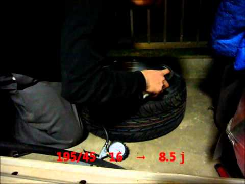 爆発 引っ張りタイヤ 165/50 16→7.5j 195/45 16→8.5j Tire Stretch