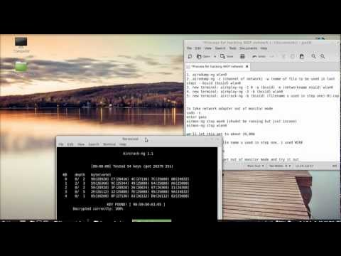 How to crack a WEP network on Linux Mint