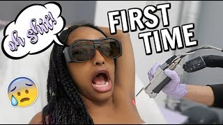 FIRST TIME GETTING LASER HAIR REMOVAL | VLOG & EXPERIENCE @ LASER AWAY