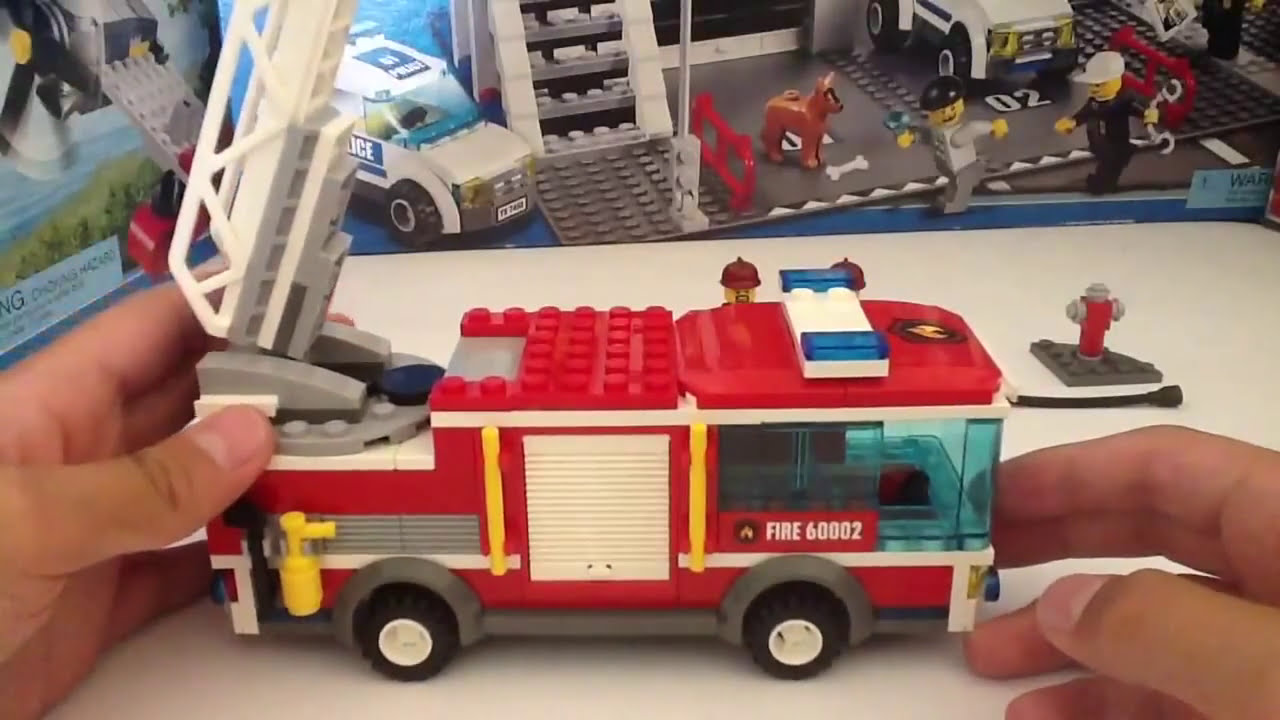Lego City 60002 Fire Truck Cami 243 N De Bomberos Review Youtube