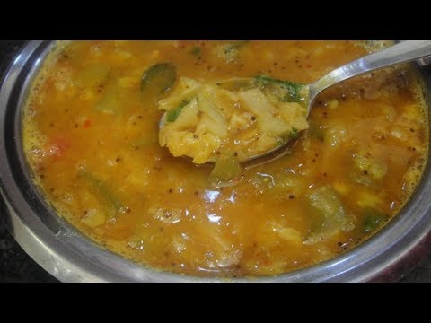 Muttaikoss Avaraikai Sambar In Tamil | Cabbage Broad Beans Sambar In Tamil | Gowri
